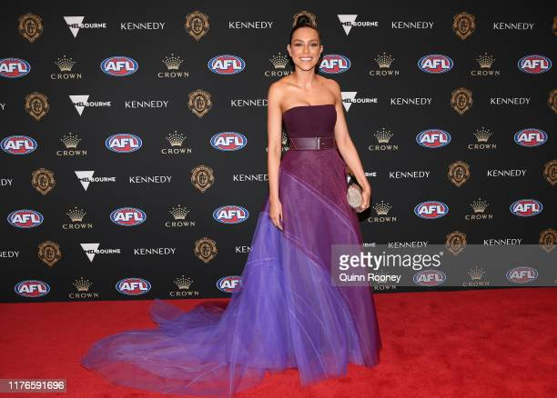 Jess Tarrant arrives ahead of the 2019 Brownlow Medal at Crown Palladium on September 23 2019 in Melbourne Australia