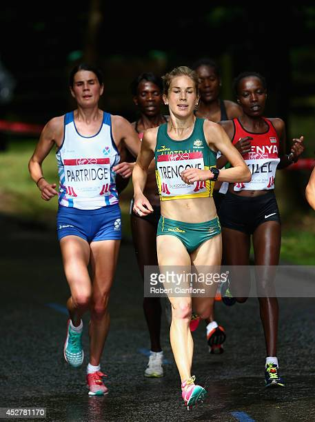 Jess Tengrove of Australia competes in the Women's Marathon during day four of the Glasgow 2014 Commonwealth Games on July 27 2014 in Glasgow United...