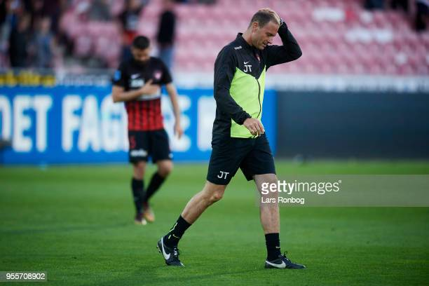 Jess Thorup head coach of FC Midtjylland after the Danish Alka Superliga match between FC Midtjylland and FC Nordsjalland at MCH Arena on May 7 2018...