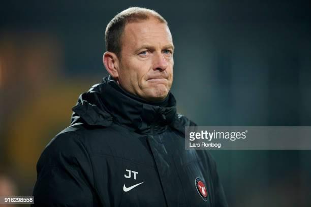 Jess Thorup head coach of FC Midtjylland looks on during the Danish Alka Superliga match between AC Horsens and FC Midtjylland at CASA Arena Horsens...