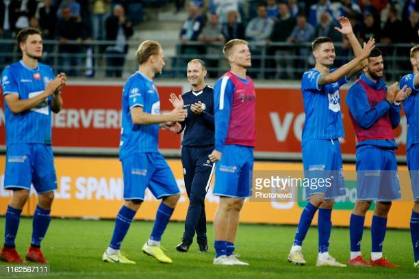 Jess Thorup head coach of KAA Gent pictured during the Jupiler Pro League match between KAA Gent and KV Oostende at the Ghelamco Arena on August 18,...