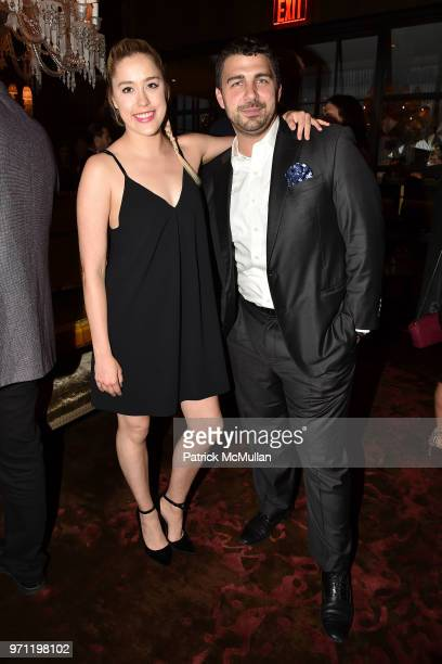 Jess Turner and Pierre Rogers attend Christopher R King Debuts New Luxury Brand CCCXXXIII at Baccarat Hotel on June 5 2018 in New York City