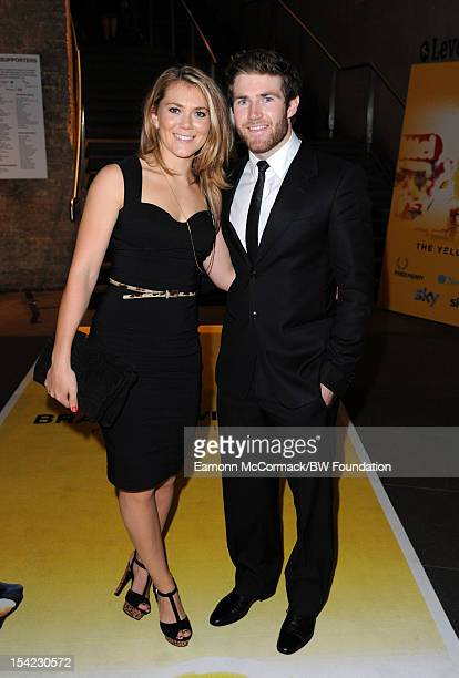 Jess Varnish and Liam Phillips attends the Bradley Wiggins Foundation The Yellow Ball event at The Roundhouse on October 16 2012 in London England...