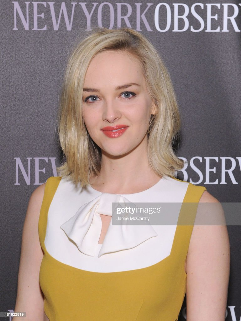 Jess Weixler attends The New York Observer Relaunch Event on April 1, 2014 in New York City.