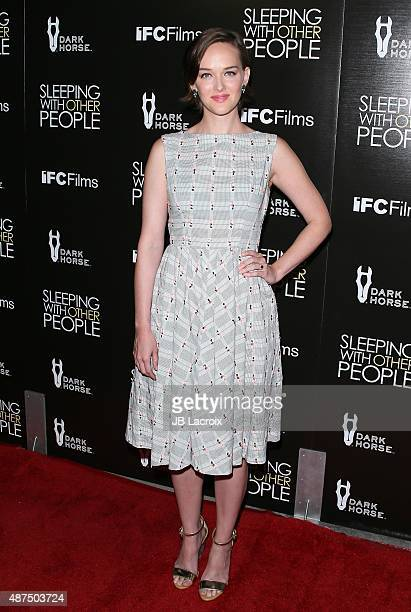 Jess Weixler attends the premiere of IFC Films' 'Sleeping with other people' held at ArcLight Cinemas on September 9 2015 in Hollywood California
