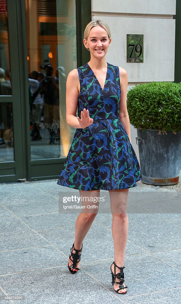 Jess Weixler is seen in New York on August 27, 2014 in New York City.