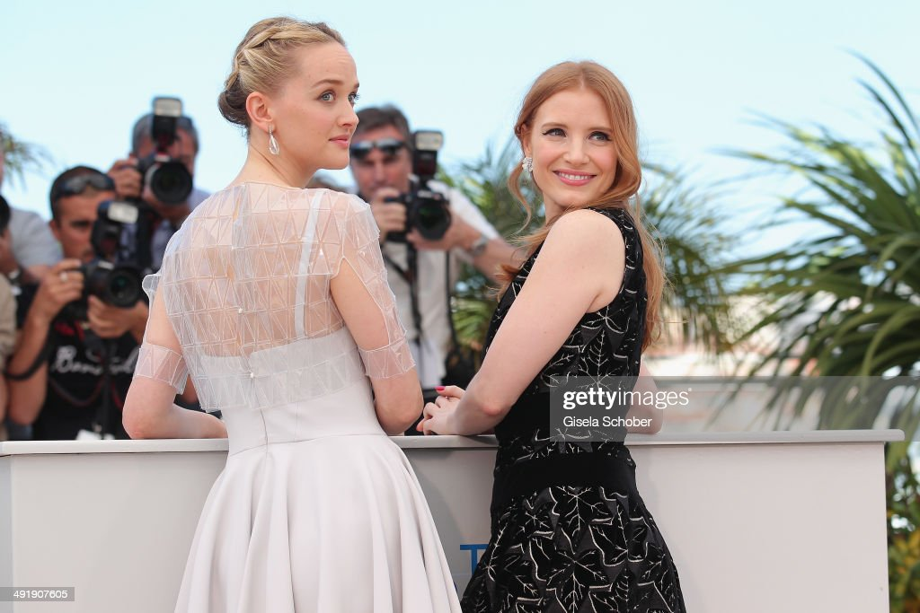 Jess Weixler; Jessica Chastain attend 'The Disappearance of Eleanor Rigby' photocall at the 67th Annual Cannes Film Festival on May 18, 2014 in Cannes, France.