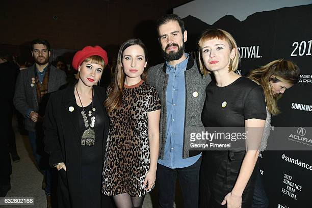 Jess Wolfe Zoe ListerJones Dan Molad and Holly Laessig attend the Band Aid Premiere at Eccles Center Theatre on January 24 2017 in Park City Utah