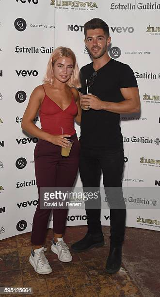 Jess Woodley and Alex Mytton attend Notion Magazine Presents 'Summer Vibes' Summer Party at Mangle @ The Laundry on August 25 2016 in London England