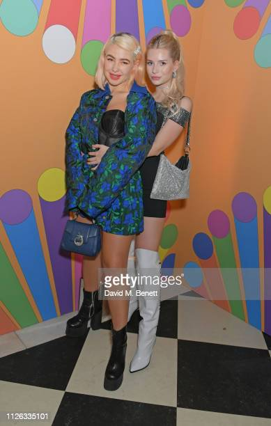 Jess Woodley and Lottie Moss attend the Universal Music BRIT Awards After Party 2019 hosted by Soho House at The Ned on February 20, 2019 in London,...