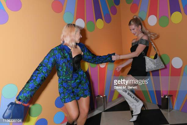 Jess Woodley and Lottie Moss attend the Universal Music BRIT Awards After Party 2019 hosted by Soho House at The Ned on February 20 2019 in London...