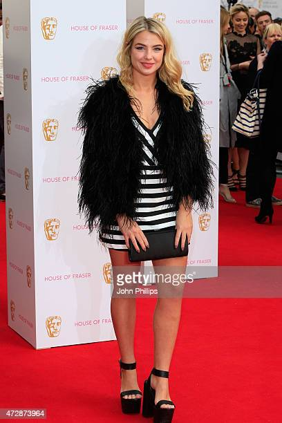 Jess Woodley attends the House of Fraser British Academy Television Awards at Theatre Royal on May 10 2015 in London England