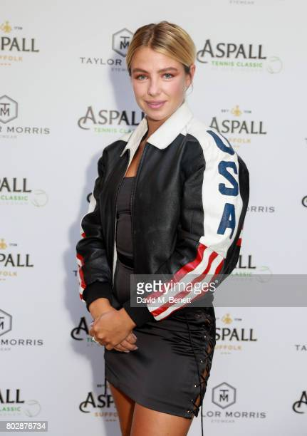 Jess Woodley attends the Taylor Morris Eyewear x Aspall Tennis Classic Player's Party at Bluebird Chelsea on June 28 2017 in London England