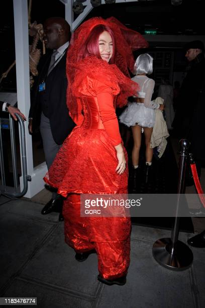 Jess Woodley seen attending the HallowZeem event at M Restaurant in Victoria on October 25 2019 in London England