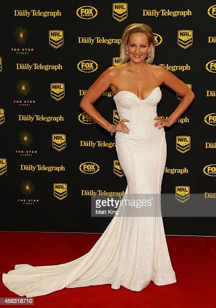 Jess Yates arrives at the Dally M Awards at Star City on September 29 2014 in Sydney Australia
