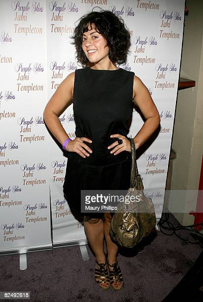 Jess Zaino arrives at Jami Templeton's CD release celebration on August 20 2008 in Los Angeles California
