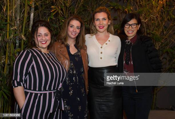 Jess Zaino Shannon Watts June Diane Raphael and SuChin Pak attend 'TOMS Presents An Evening Of Action With Shannon Watts' at The Jane Club on...