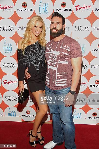 Jessa Hinton and Dan Bilzerian attend Vegas Magazine's 8th Anniversary Celebration at Nikki Beach on June 25 2011 in Las Vegas Nevada