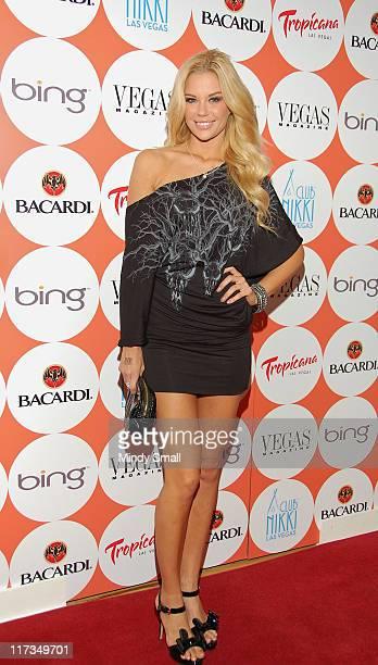 Jessa Hinton attends Vegas Magazine's 8th Anniversary Celebration at Nikki Beach on June 25 2011 in Las Vegas Nevada