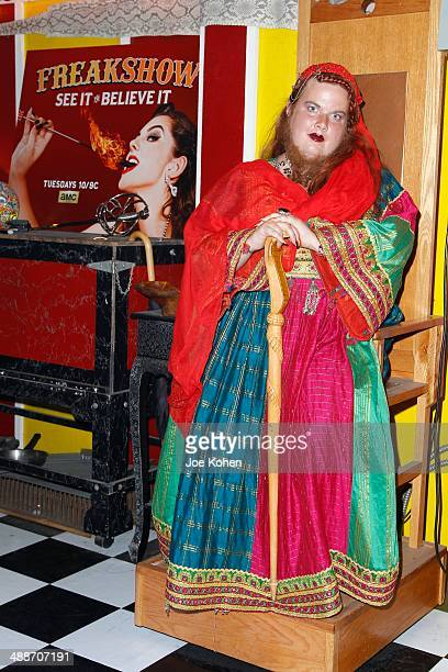 Jessa 'The Bearded Lady' poses for a photo duing AMC's Freakshow Cast Meet And Greet on May 7 2014 in Venice California