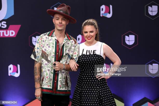 Jesse and Joy attend the Univision's 'Premios Juventud' 2017 Celebrates The Hottest Musical Artists And Young Latinos ChangeMakers at Watsco Center...