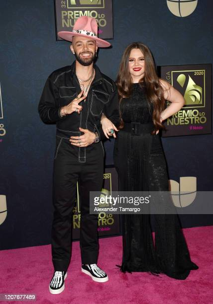 Jesse and Joy pose backstage during Univision's Premio Lo Nuestro 2020 at AmericanAirlines Arena on February 20 2020 in Miami Florida