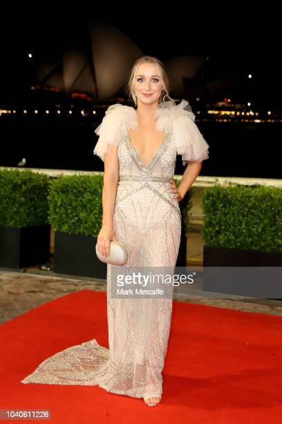 Jesse Arena arrives at the 2018 Dally M Awards at Overseas Passenger Terminal on September 26 2018 in Sydney Australia