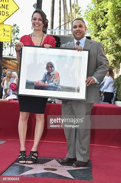 Jesse Belle Denver and Zak Deutshendorf attend the ceremony posthumosly honoring John Denver with the 2531st star on the Hollywood Walk of Fame on...