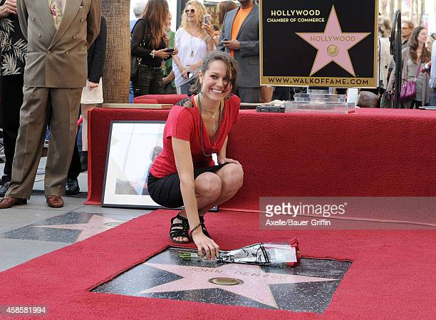 Jesse Belle Denver attends the ceremony of her late father John Denver honored posthumously with the 2531st star on the Hollywood Walk of Fame on...