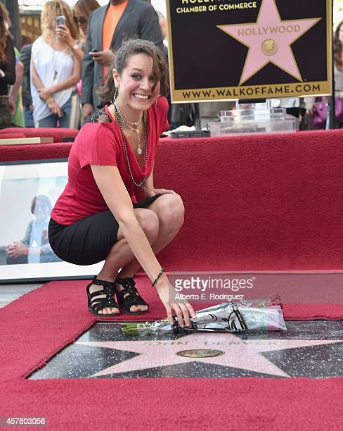 Jesse Belle Denver attends the ceremony posthumosly honoring John Denver with the 2531st star on the Hollywood Walk of Fame on October 24 2014 in...