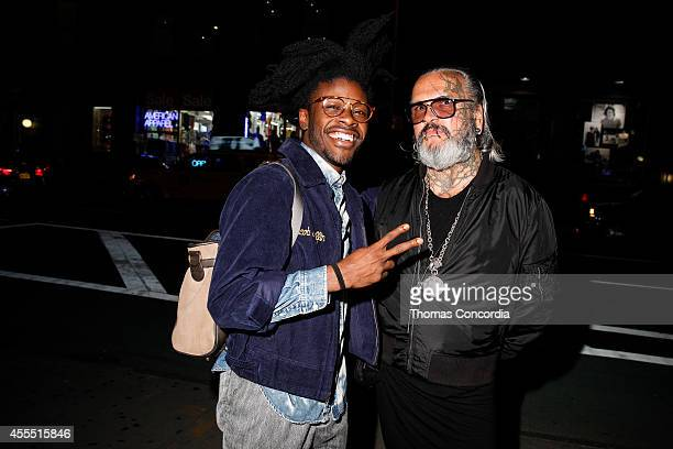 Jesse Boykins and Sven Marguart attend Liebeskind Berlin NYC Vernissage Photography Berlin By Sven Marguart Store Party on September 15 2014 in New...