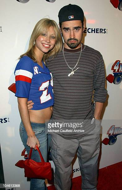 Jesse Bradford and Diane Gaeta during 4 Wheelers By Skechers Arrivals at The Hollywood Palladium in Hollywood California United States