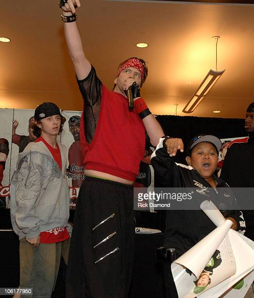 Jesse Brown Jamie Kennedy and Emmanuel Lewis during Kickin' It Old Skool Breakdance Contest at StoneCrest Mall at Stonecrest Mall in Atlanta Georgia...