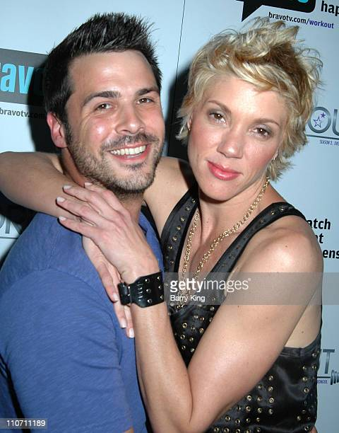 Jesse Brune and Jackie Warner during Bravo's Workout Series Season 2 Premiere Party Inside at HERE Bar Lounge in West Hollywood CA United States