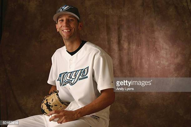 Jesse Carlson of the Toronto Blue Jays poses for a portrait during photo day at the Bobby Mattick Training Center on February 28 2005 in Dunedin...