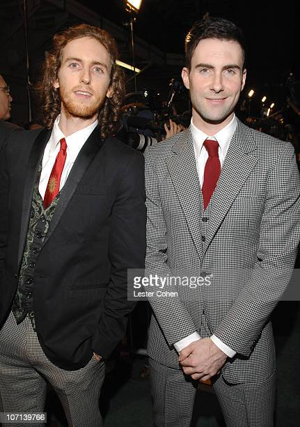Jesse Carmichael and Adam Levine of Maroon 5 during Global Green USA 3rd Annual PreOscar Celebration to Benefit Global Warming Red Carpet at Avalon...