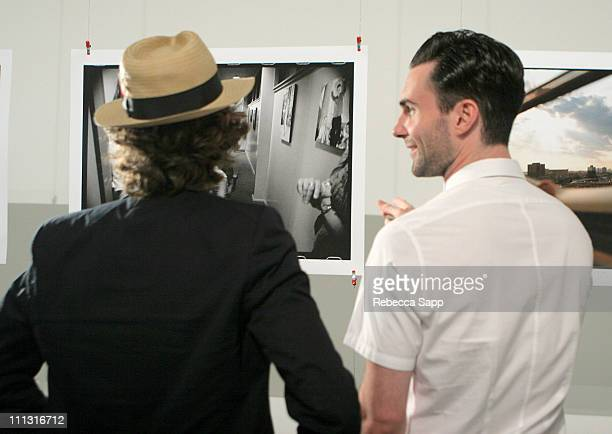 """Jesse Carmichael and Adam Levine of Maroon 5 during Maroon 5 Launches Their Book """"Midnight Miles"""" at Miau Haus Art Studio in Los Angeles, California,..."""