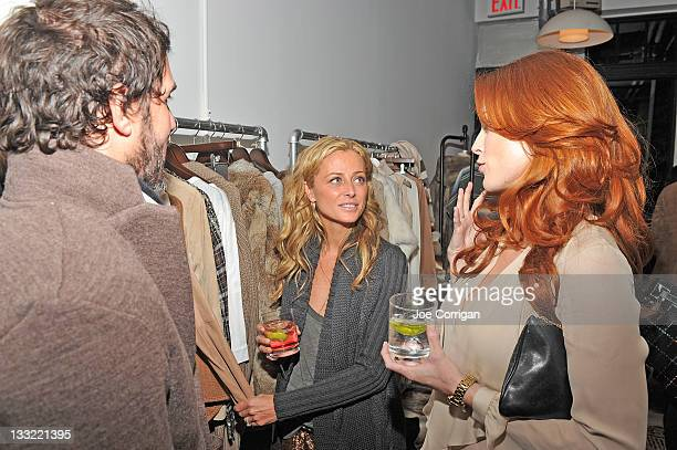Jesse Cole Haute Hippie designer Trish Wescoat Pound and actress Bridget Regan attend the Haute Hippie Launches Haute Hoodie party at 211 Elizabeth...