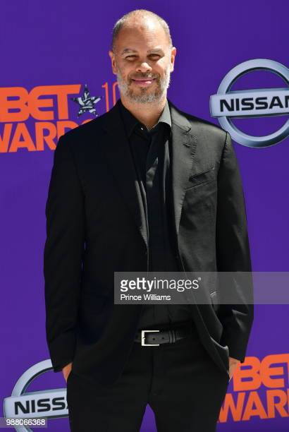 Jesse Collins arrives to the 2018 BET Awards held at Microsoft Theater on June 24 2018 in Los Angeles California
