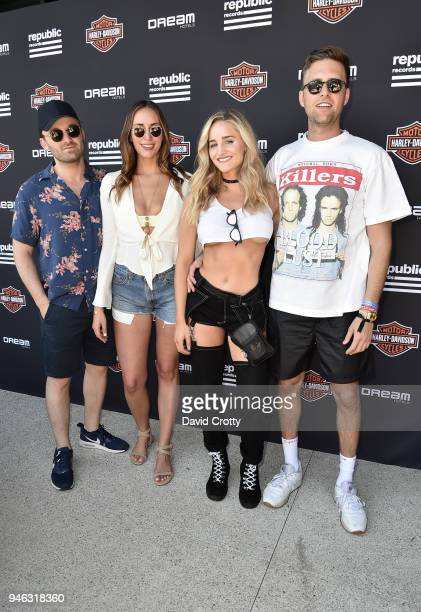 Jesse Daniels Nathalie Hayden Emily Palos and Dave Kaplan attend Republic Records and Dream Hotels Present 'The Estate' at Zenyara on April 14 2018...