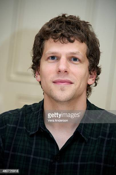 Jesse Eisenberg at 'The End Of The Tour' Press Conference at the Four Seasons Hotel on July 14 2015 in Beverly Hills California