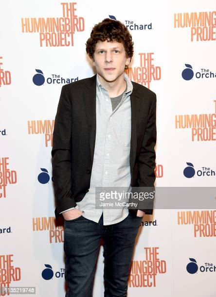 Jesse Eisenberg attend The Hummingbird Project New York Screening at Metrograph on March 11 2019 in New York City
