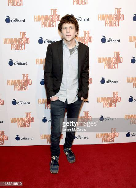 """Jesse Eisenberg attend """"The Hummingbird Project"""" New York Screening at Metrograph on March 11, 2019 in New York City."""
