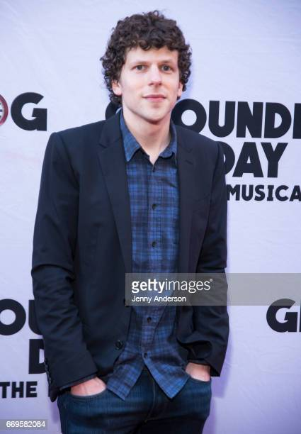 Jesse Eisenberg attends Groundhog Day opening night at August Wilson Theatre on April 17 2017 in New York City