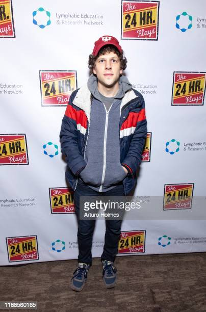Jesse Eisenberg attends The 24 Hour Plays Broadway Gala at Laura Pels Theatre at the Harold Miriam Steinberg Center for on November 18 2019 in New...
