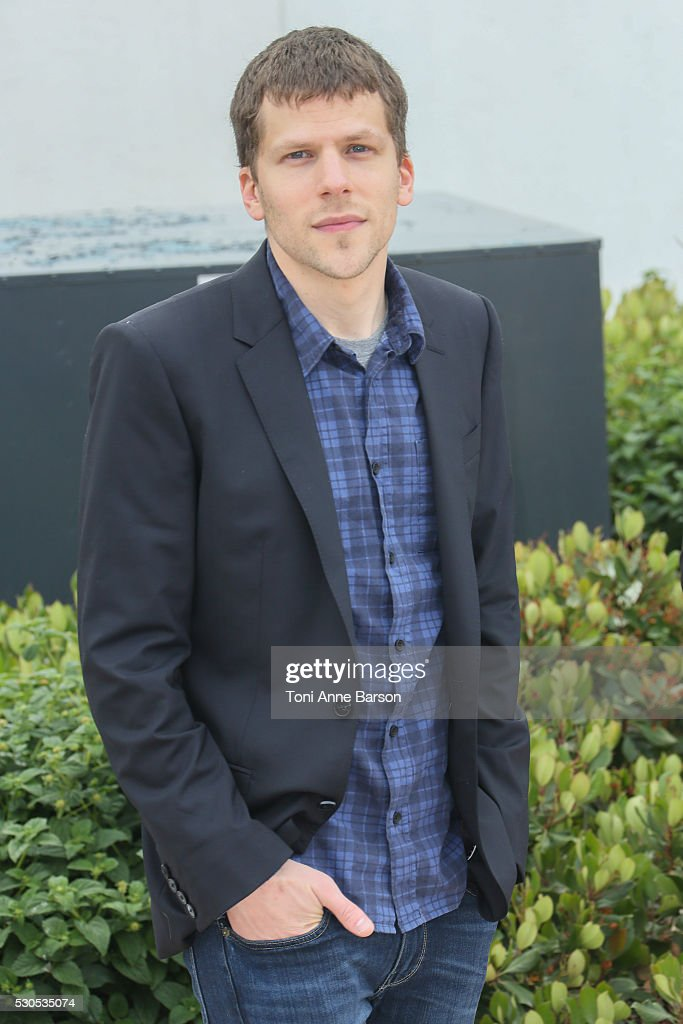 Jesse Eisenberg attends the 'Cafe Society' photocall which will open the 69th annual Cannes Film Festival on May 11, 2016 in Cannes, France.