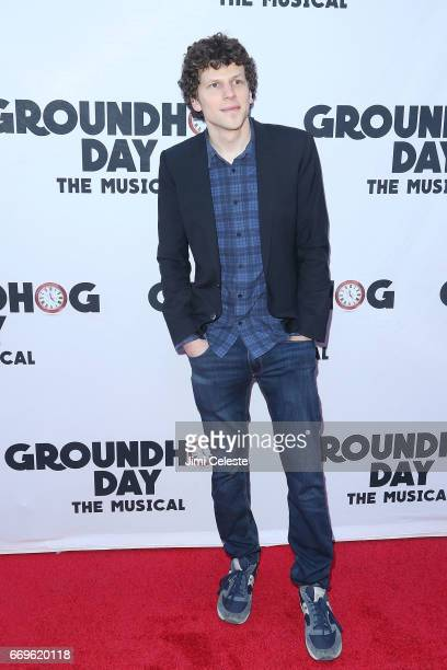 Jesse Eisenberg attends the 'Groundhog Day' Broadway Opening Night at August Wilson Theatre on April 17 2017 in New York City
