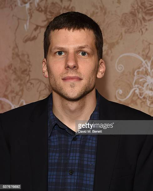 Jesse Eisenberg attends the press night after party for 'The Spoils' written by and starring Jesse Eisenberg at The Cuckoo Club on June 2 2016 in...