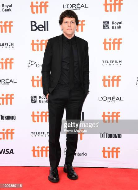 Jesse Eisenberg attends the The Hummingbird Project premiere during 2018 Toronto International Film Festival at Princess of Wales Theatre on...