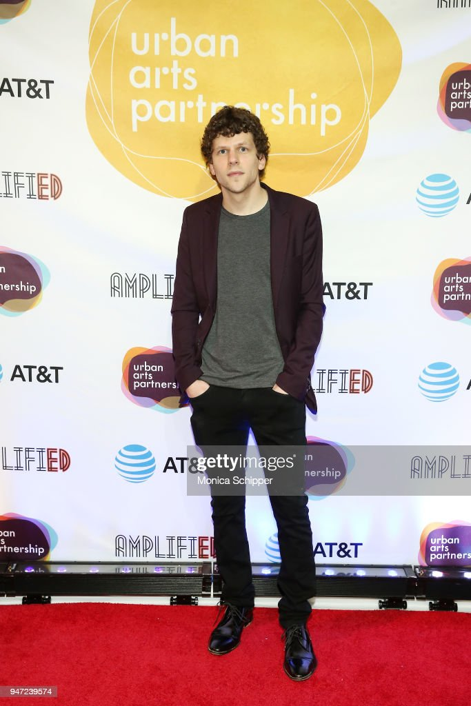 Jesse Eisenberg attends the Urban Arts Partnership's AmplifiED Gala at The Ziegfeld Ballroom on April 16, 2018 in New York City.